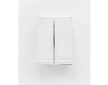 Untitled,  Underside Of White Cardboard Box, 2018. Archival print on Hahnemühle Photo Rag, 68 cms x 43 cms